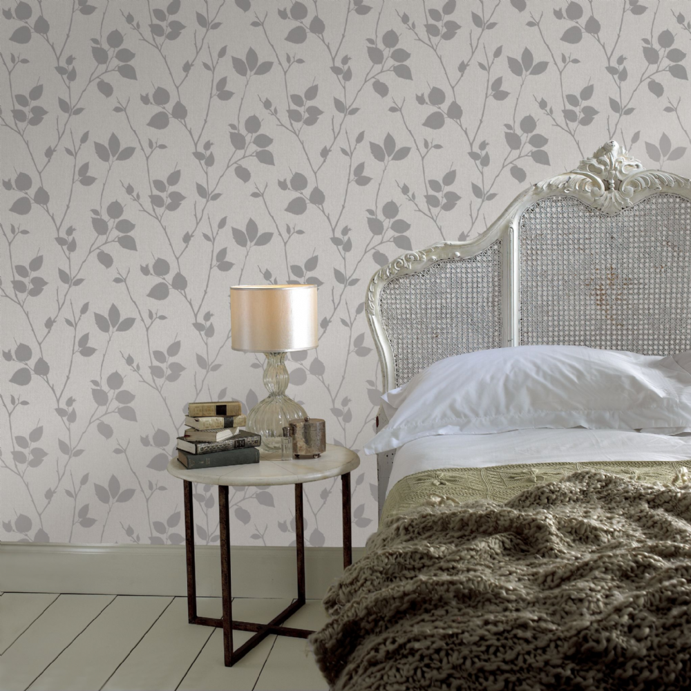 Graham and Brown Virtue Grey 31-872 Wallpaper